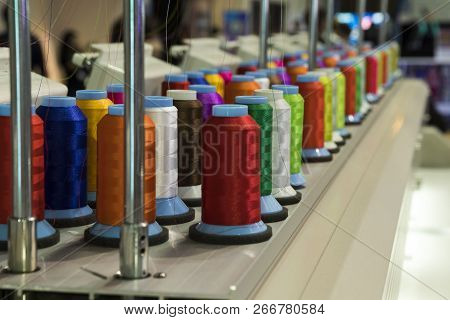 Industrial Embroidery Machine.for Create Patterns On Textiles.