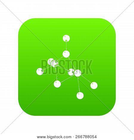 Ethyl Acetate Icon Green Isolated On White Background