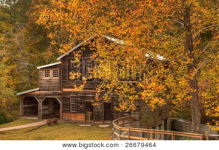 Historic Freeman Grist Mill near Atlanta, Georgia poster
