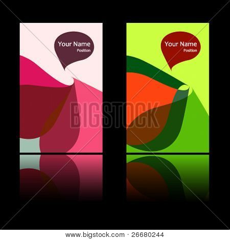 2 fantasy vector business card set