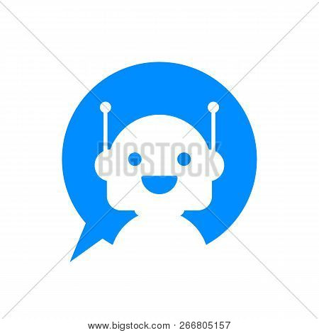 Robot Icon. Bot Sign Design. Chatbot Symbol Concept. Voice Support Service Bot. Online Support Bot.