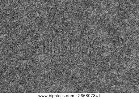 Felt Texture In Dark Grey - Material Background