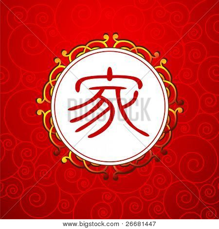 Chinese new year background with Chinese character for