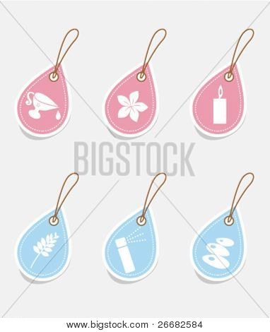 Vector set of spa tags