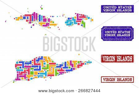Mosaic Brick Style Vector & Photo (Free Trial) | Bigstock