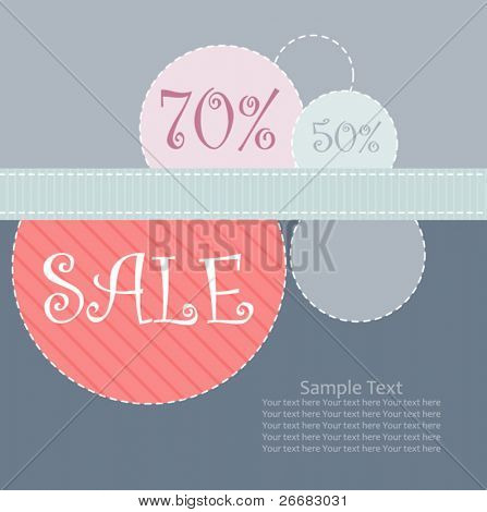 sale poster design template