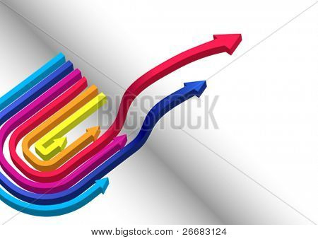 3D colored vector arrows for cover page