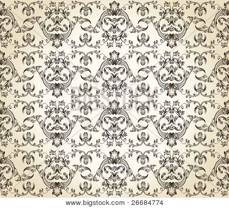 seamless background vintage vector retro Pattern wallpaper