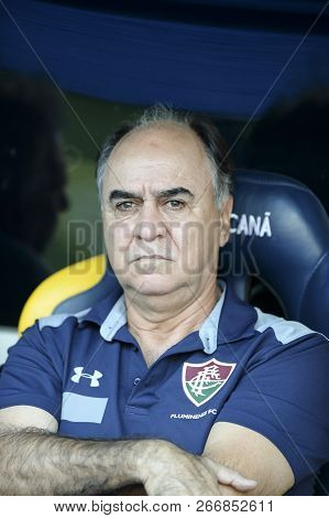 Rio, Brazil - November 03, 2018: Marcelo Oliveira Coach In Match Between Fluminense And Vasco By The