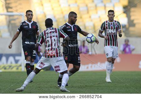 Rio, Brazil - November 03, 2018: Willian Maranhao Player In Match Between Fluminense And Vasco By Th