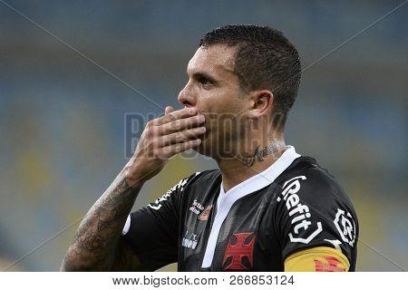 Rio, Brazil - November 03, 2018: Ramon Player In Match Between Fluminense And Vasco By The Brazilian