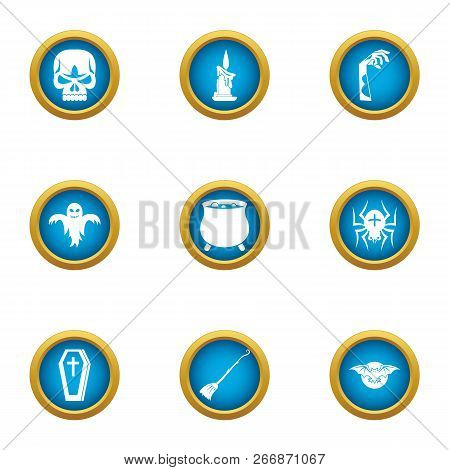 Lethal Icons Set. Flat Set Of 9 Lethal Icons For Web Isolated On White Background