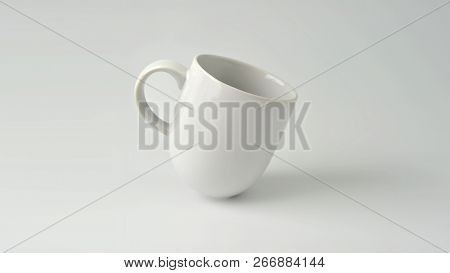 Mug, White Coffee Cup Mock-up On White Background.