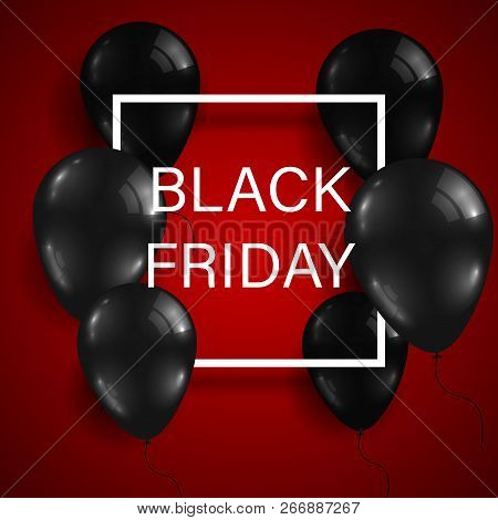 Black Friday Sale. Black Friday Banner. Inscription Design Template. Vector Illustration.