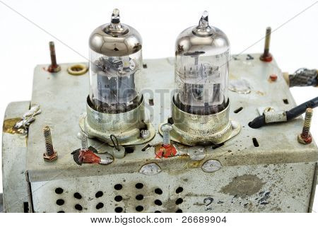glass vacuum radio tube block poster
