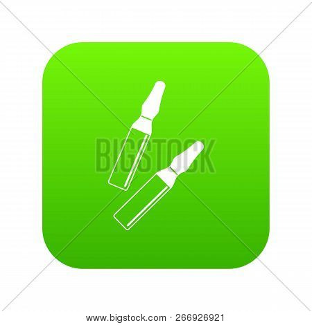 Iodine Sticks Icon Digital Green For Any Design Isolated On White Vector Illustration