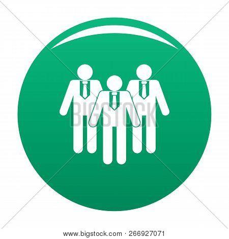Board Directors Icon. Simple Illustration Of Board Directors Vector Icon For Any Design Green