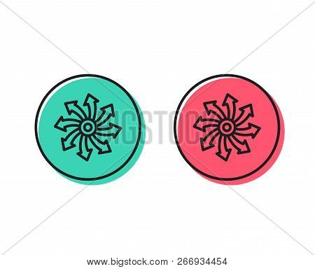 Versatile line icon. Multifunction sign. Positive and negative circle buttons concept. Good or bad symbols. Versatile Vector poster