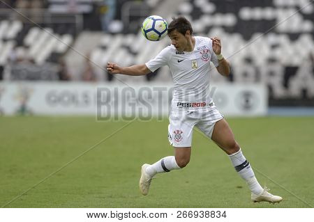 Rio, Brazil - November 04, 2018: Romero Player In Match Between Botafogo And Corinthians By The Braz