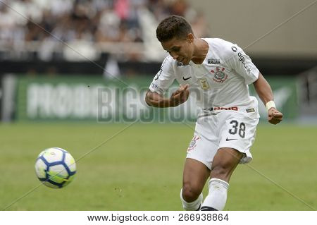 Rio, Brazil - November 04, 2018: Pedrinho Player In Match Between Botafogo And Corinthians By The Br