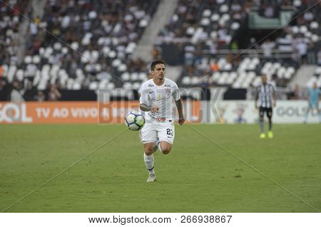Rio, Brazil - November 04, 2018: Fagner Player In Match Between Botafogo And Corinthians By The Braz