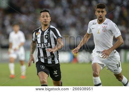 Rio, Brazil - November 04, 2018: Leo Valencia Player In Match Between Botafogo And Corinthians By Th