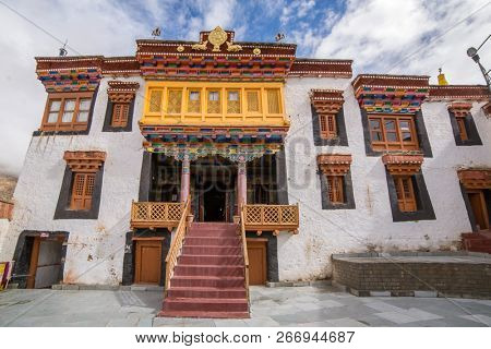 Entrance to Likir Gompa Monastery in Ladakh, India