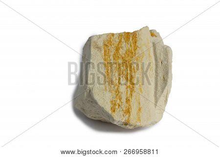 The Diatomite Stone Isolate On White  Background
