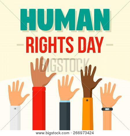 International Human Rights Day Concept Background. Flat Illustration Of International Human Rights D