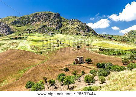 Sant'angelo Muxaro In Der Provinz Agrigent In Sizilien