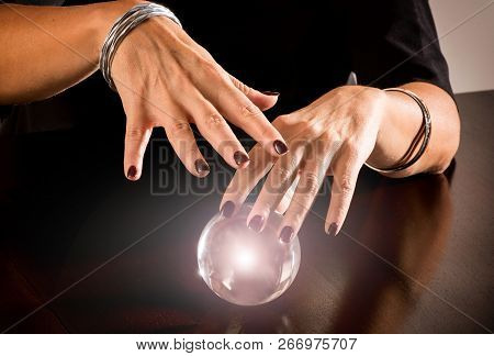 Fortune Teller Predicting The Future On A Sphere