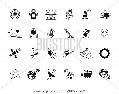 Explorer Space Icons Vector & Photo (Free Trial) | Bigstock