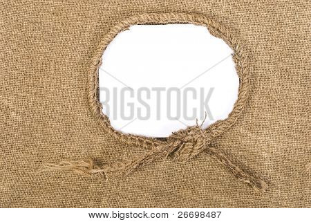 Sackcloth vintage aged background