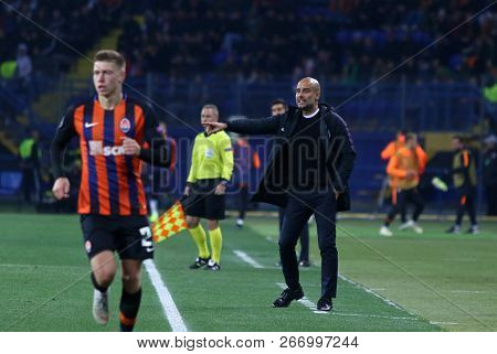 Kharkiv, Ukraine - October 23, 2018: Manchester City Manager Josep
