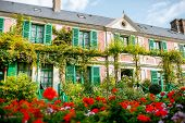House and garden of Claud Monet, famous french impressionist painter in Giverny town in France poster