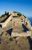 castle rock of Palamidi in Nauplion, Greece poster