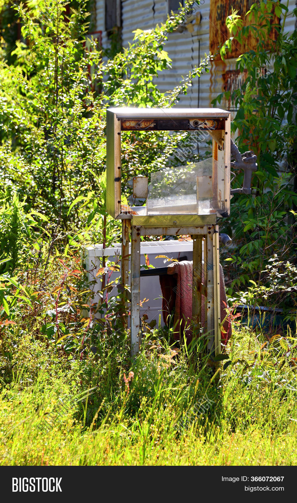 Discarded Old Gas Pump Image Photo Free Trial Bigstock
