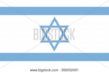 Israel Flag Vector Graphic. Rectangle Israeli Flag Illustration. Israel Country Flag Is A Symbol Of