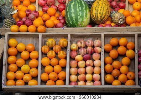 Apples And Oranges As Fruit Composition.  Fruit Health Food
