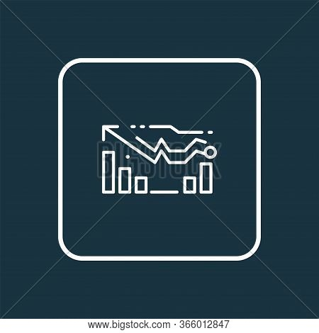 Forecasting Model Icon Line Symbol. Premium Quality Isolated Dashboard Element In Trendy Style.