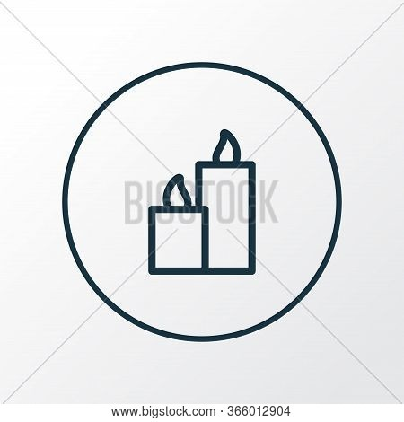 Paraffin Icon Line Symbol. Premium Quality Isolated Candles Element In Trendy Style.