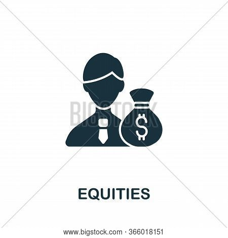 Equities Icon From Investment Collection. Simple Line Equities Icon For Templates, Web Design And In