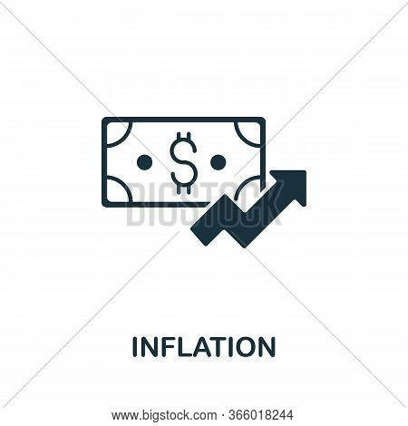 Inflation Icon From Investment Collection. Simple Line Inflation Icon For Templates, Web Design And