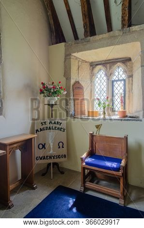 Gwaenysgor, Flintshire, Uk: Aug 13, 2019: The Church Of St Mary Magdalene Was Built In The 13th Cent