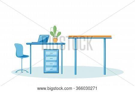 Veterinary Workplace Cartoon Vector Illustration