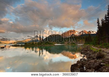 Garibaldi Lake And Price Mountain Sunset