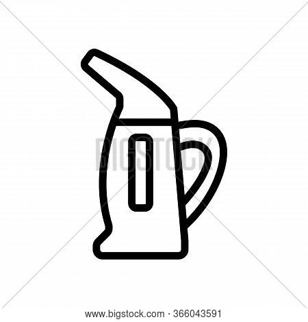 Steam Iron For Vertical Ironing Icon Vector. Steam Iron For Vertical Ironing Sign. Isolated Contour