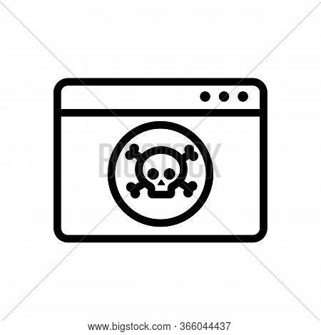 Hacking Information Folder Hackers Icon Vector. Hacking Information Folder Hackers Sign. Isolated Co