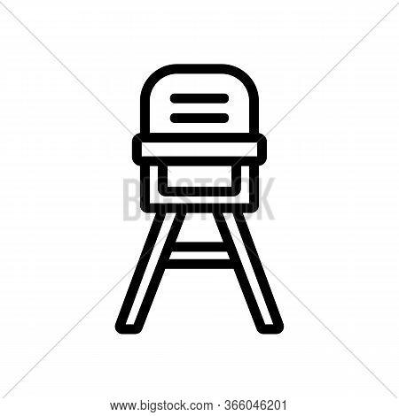 Baby Chair Transformer For Feeding Icon Vector. Baby Chair Transformer For Feeding Sign. Isolated Co