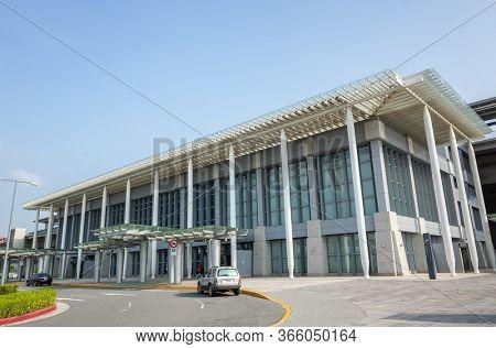 Miaoli, Taiwan - November 14th, 2019: modern architecture of Taiwan High Speed Rail, Miaoli county, Taiwan, Asia